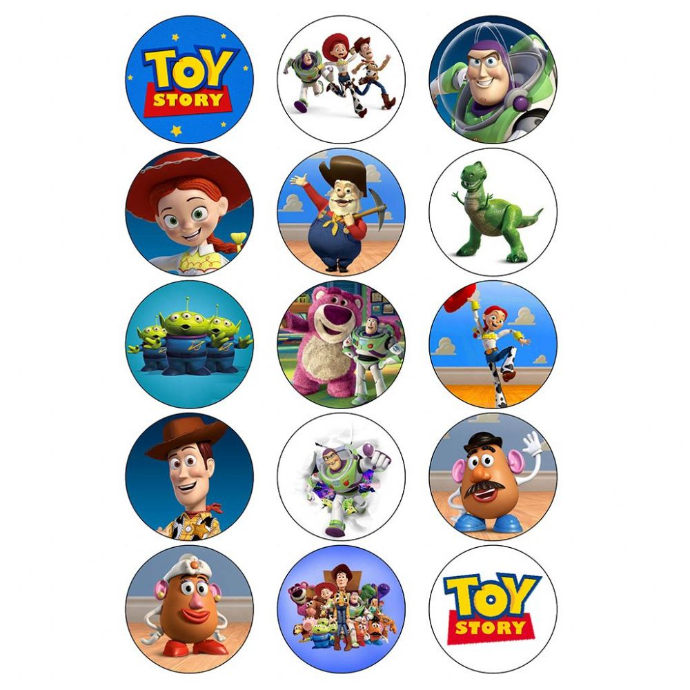 Toy Story Edible Cake Toppers